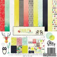 Набор бумаги и наклеек от Glitz Design - Finnley Collection Pack, 30х30 см - ScrapUA.com