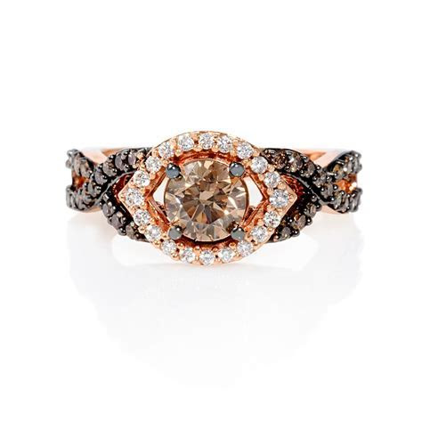 .85ct Le Vian Chocolate Diamond 14k Strawberry Gold Ring