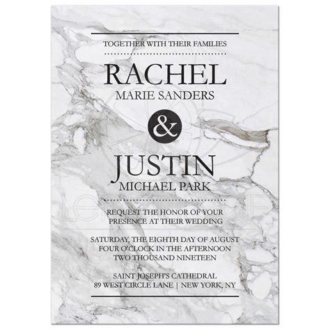 Modern Marble Design Wedding Invitation