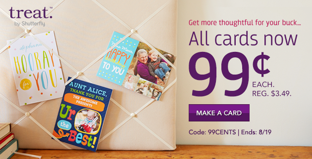 Unlimited Free Digital Cards from Treat - 24 hours only!