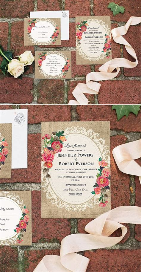 Top 10 Affordable Rustic Wedding Invitations with RSVP