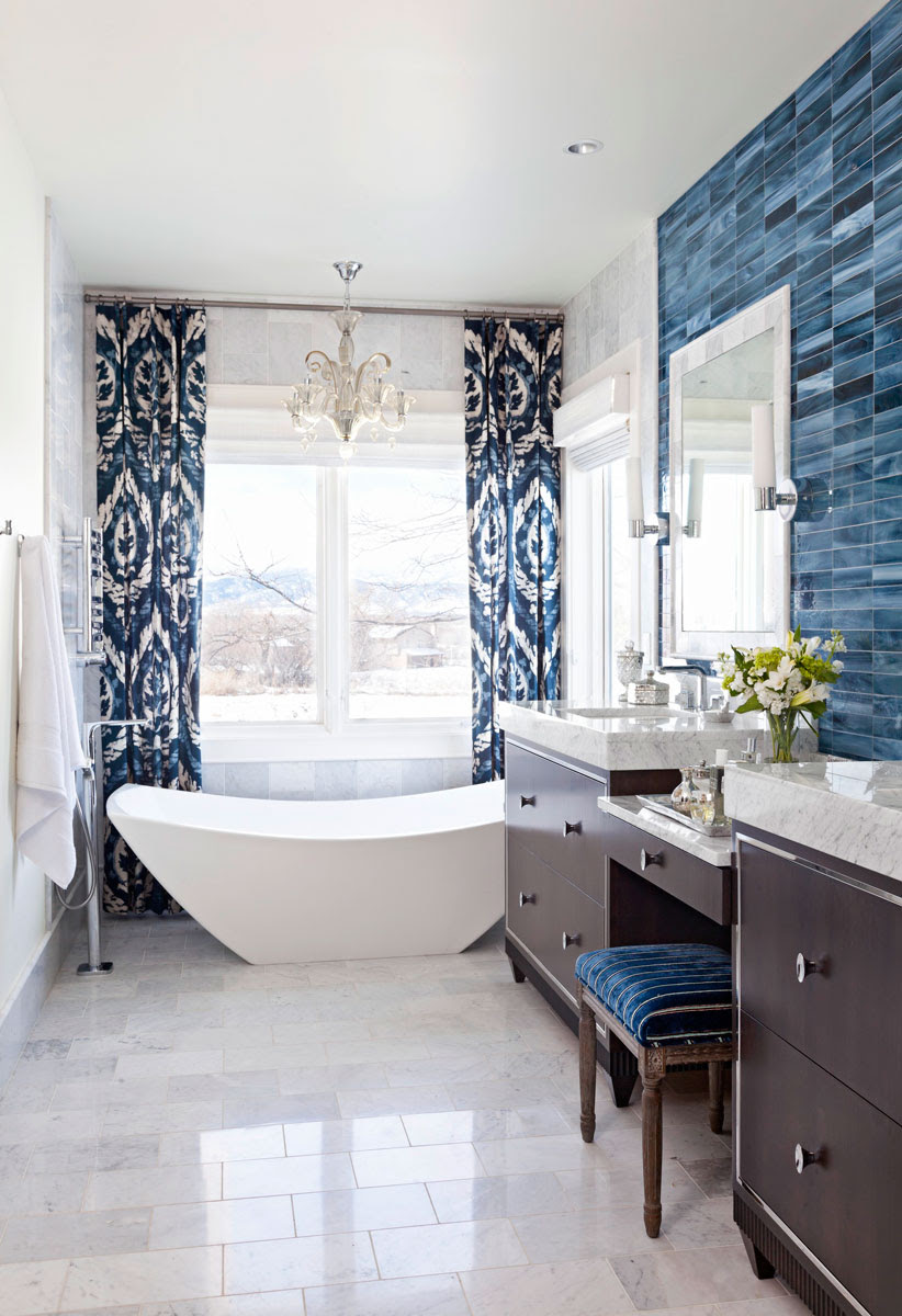 Grey White And Blue Bathroom Ideas