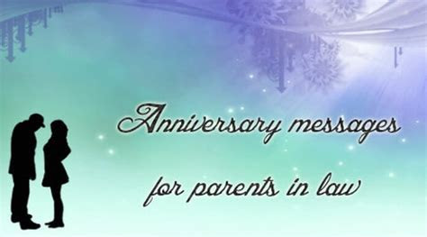 Anniversary Messages for Parents in Law