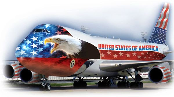 Donald Trump's version of Air Force One? This satirical artwork isn't so far-fetched.
