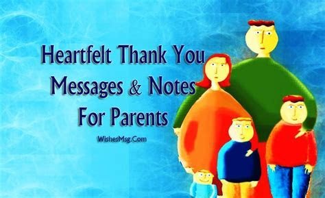 Thank You Message For Parents   Appreciation Quotes