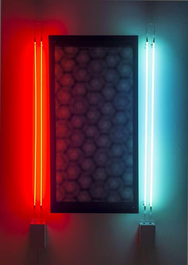 "Chris Fraser's 2015 sculpture ""Mobile | 0û, 90û, 90û | Argon and Neon"" appears in ""Chris Fraser: Animated"" through Oct. 31 at Gallery Wendi Norris.  Credit: Chris Fraser and Gallery Wendi Norris Photo: Chris Fraser And Gallery Wendi N"