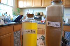 Pumpkin juice and butterbeer