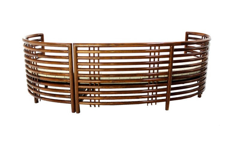 Mid-Century Modern Kidney Shape Two-Part Rosewood Sofa at ...