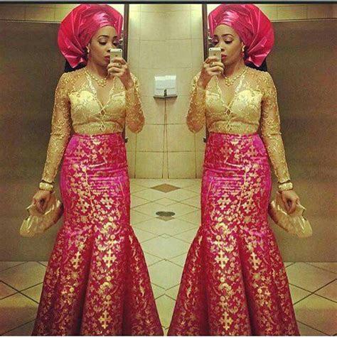 pink  gold wedding dresses african fashion ankara