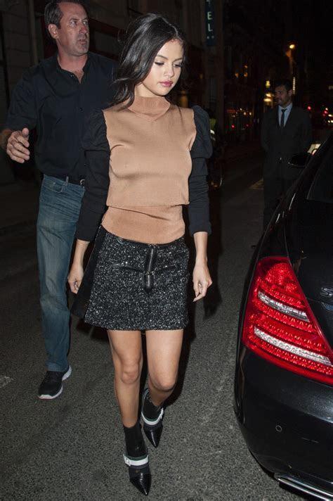 Selena Gomez ? Leaving the Dave Restaurant in Paris   GotCeleb