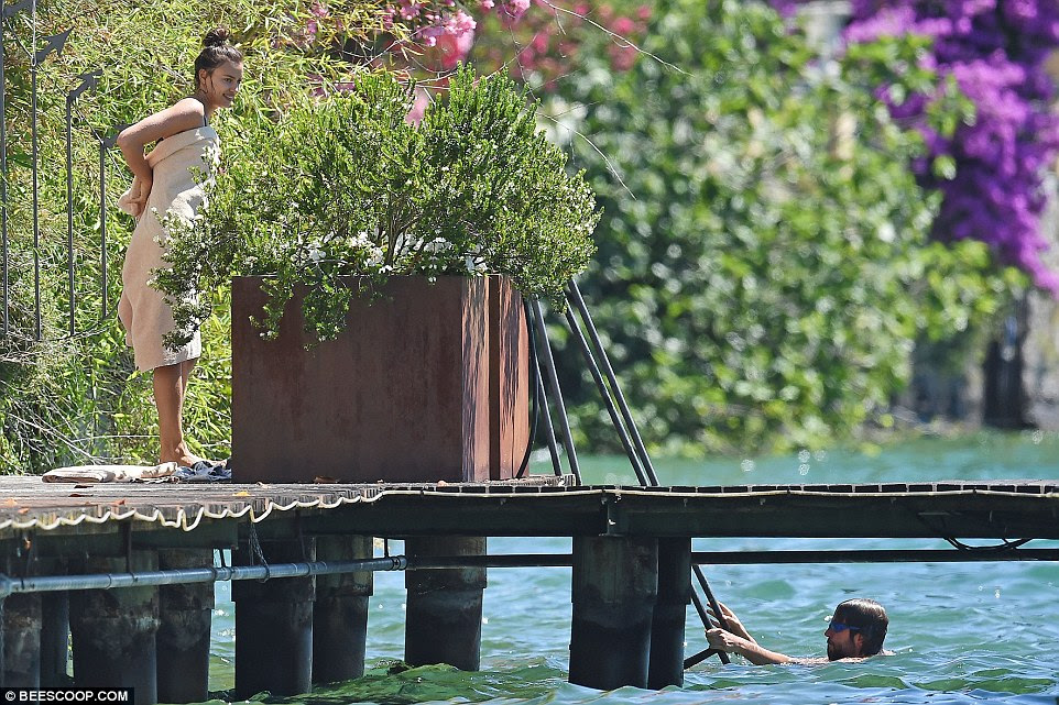 Under wraps: Neither Bradley or Irina have spoken publicly about their relationship, despite them constantly being seen together