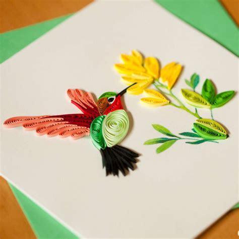 Hummingbird Quilling Card   Inner Circle Direct