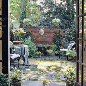 Shady Courtyard Makeover - Southern Living Mobile