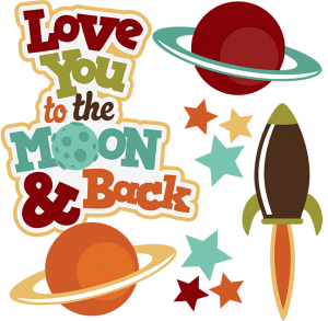 Love You To The Moon & Back SVG space svg outer space clipart cute clip art outer space scrapbookg svg