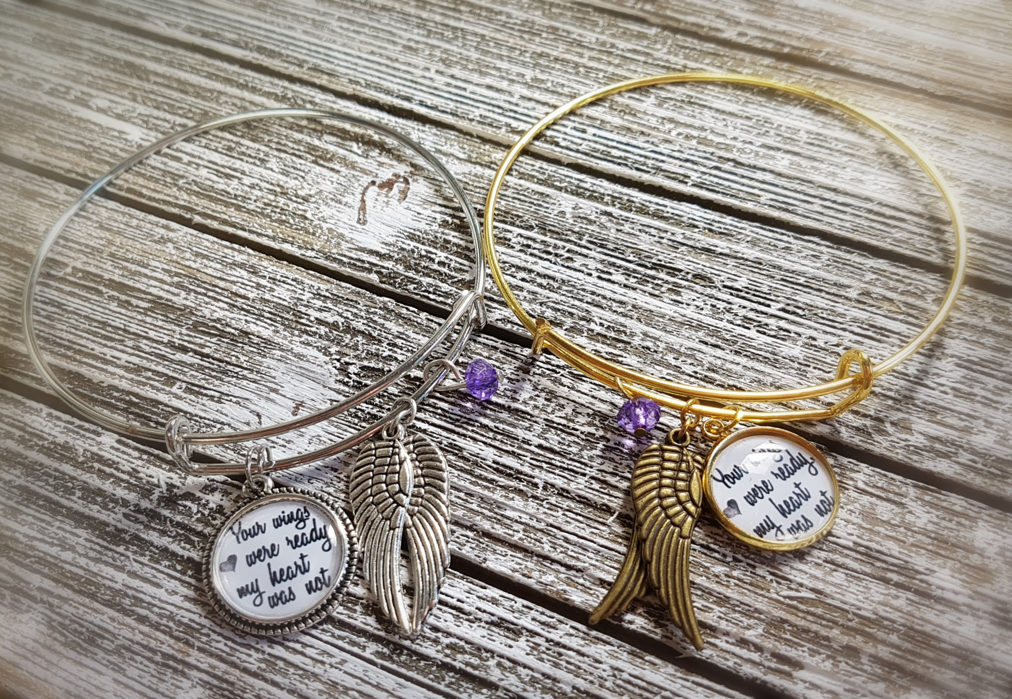 Personalized Familymemorialbanglecharmbracelet With Quote Or