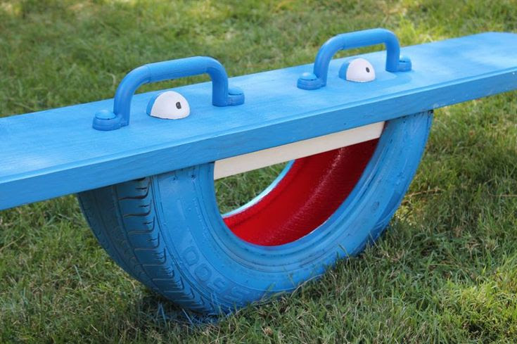 Repurposed Recycled Reused Reclaimed Restored Facebook post -  How to make your own Tire Totter!