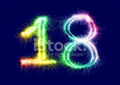 Sparkling Number 18 Stock Photos   FreeImages.com