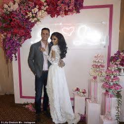 Lilly Ghalichi stuns in a custom made bridal dress