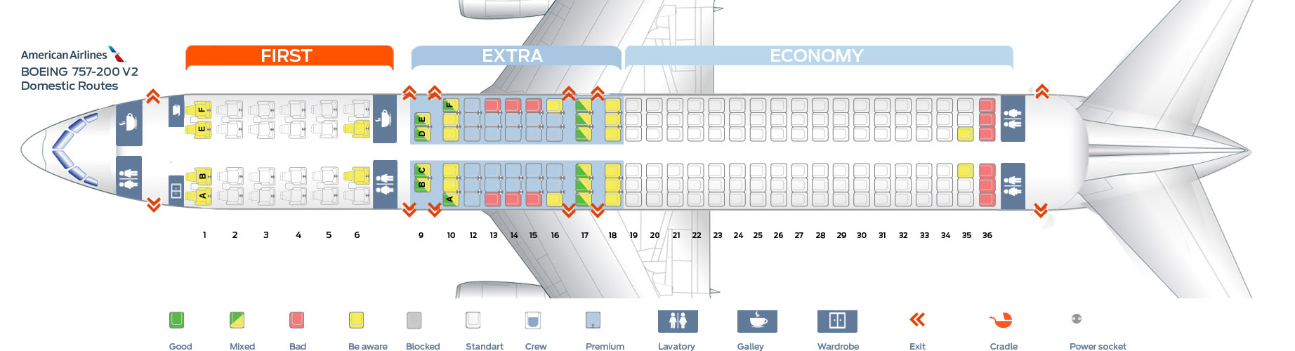 757 Seat Map | Bedroom 2018 Delta Seat Map on