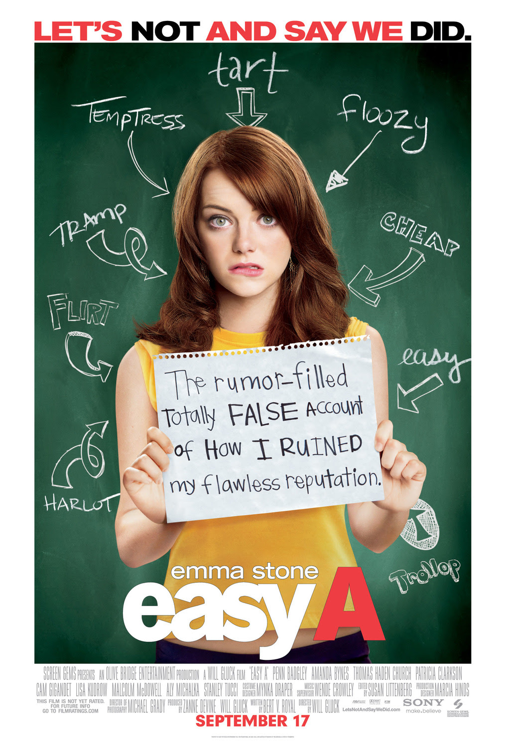 Extra Large Movie Poster Image for Easy A