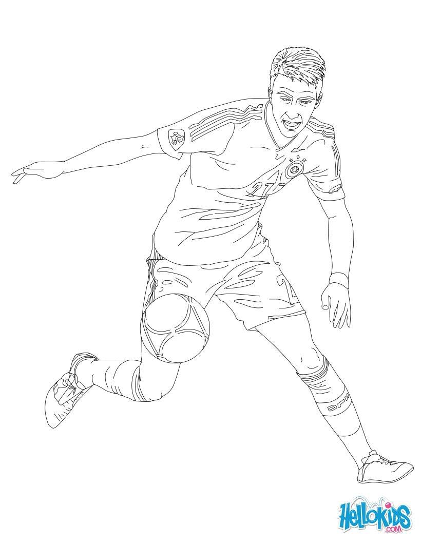 Zlatan Ibrahimovitch Marco Reüs coloring page