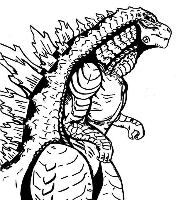 Godzilla Coloring Pages To Print at GetDrawings | Free ...