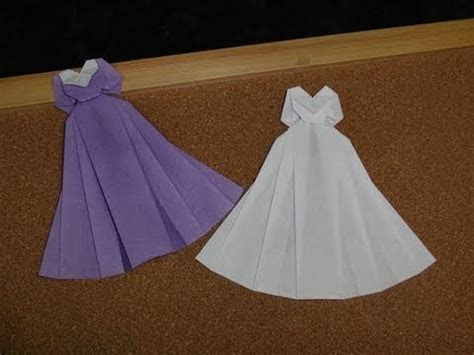 How to make an origami dress.            Origami: Wedding
