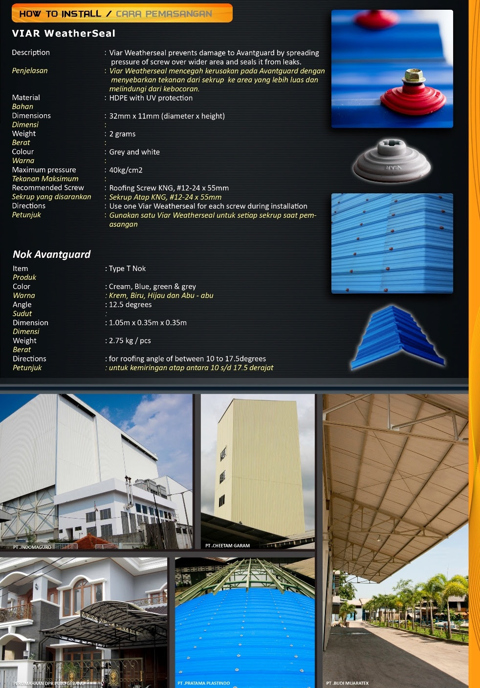ATAP AVANTGUARD Supplier Distributor Atap Transparan