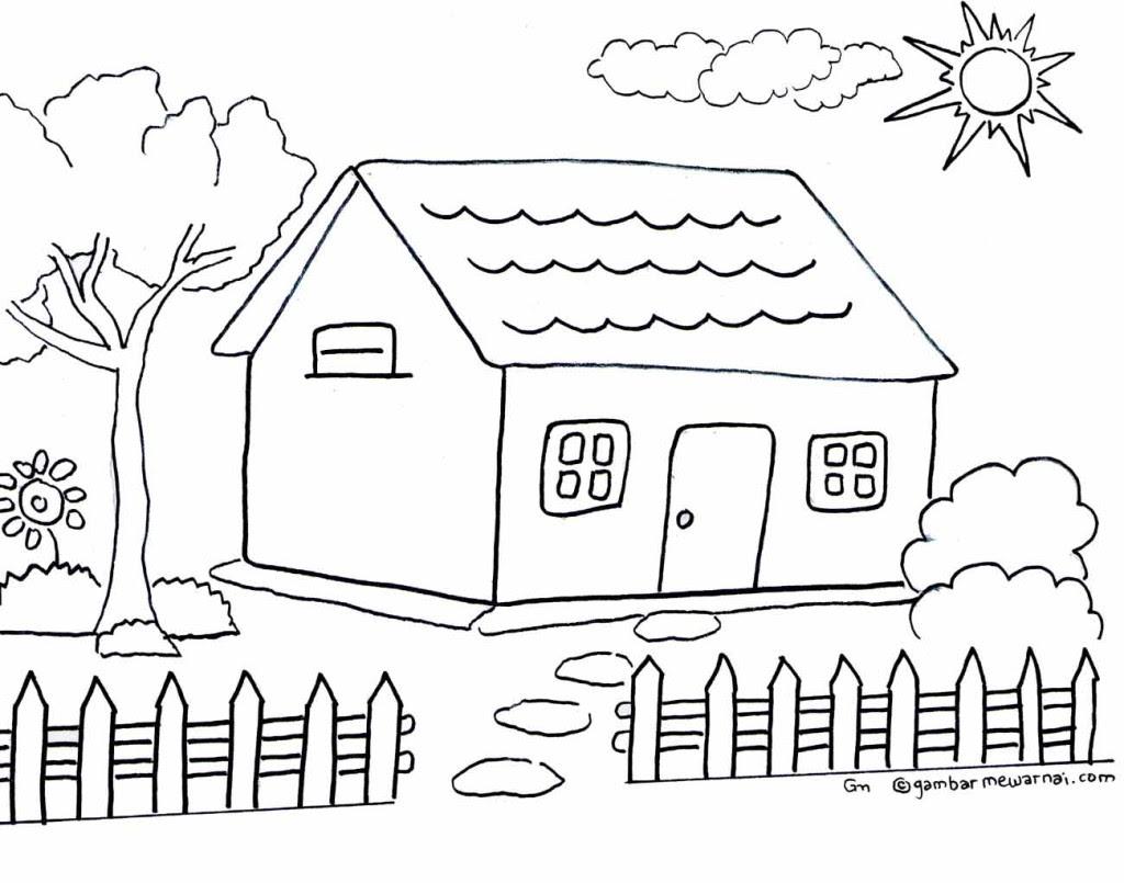 100+ Gambar Rumah Sederhana Yang Bisa Digambar Gratis Terbaru