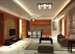 White False Pop Ceiling Design And Purple Sofa Design In Living ...