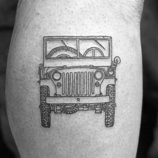 Idéias doces do tatuagem do jipe dos homens