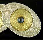 Art Deco sapphire cufflinks. (J9265)