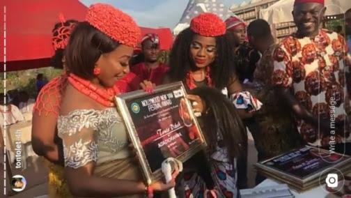 Actress Tonto Dikeh Bags Chieftaincy Title as Adadioranma 1 of Nollywood (Photos)