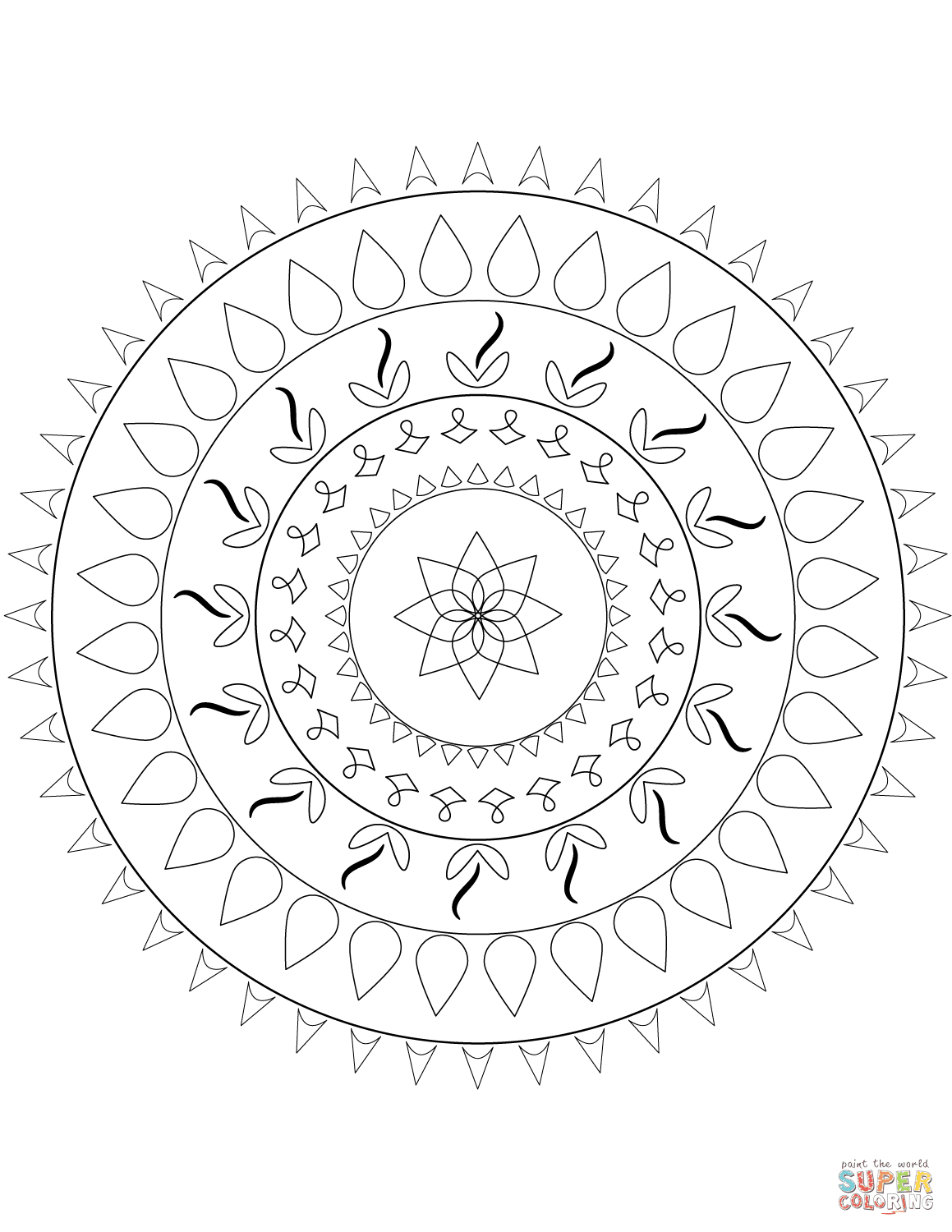 Simple Mandala coloring page | Free Printable Coloring Pages