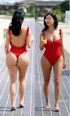See Demi Rose  flaunt her ample assets in skimpy swimsuit (Photos)