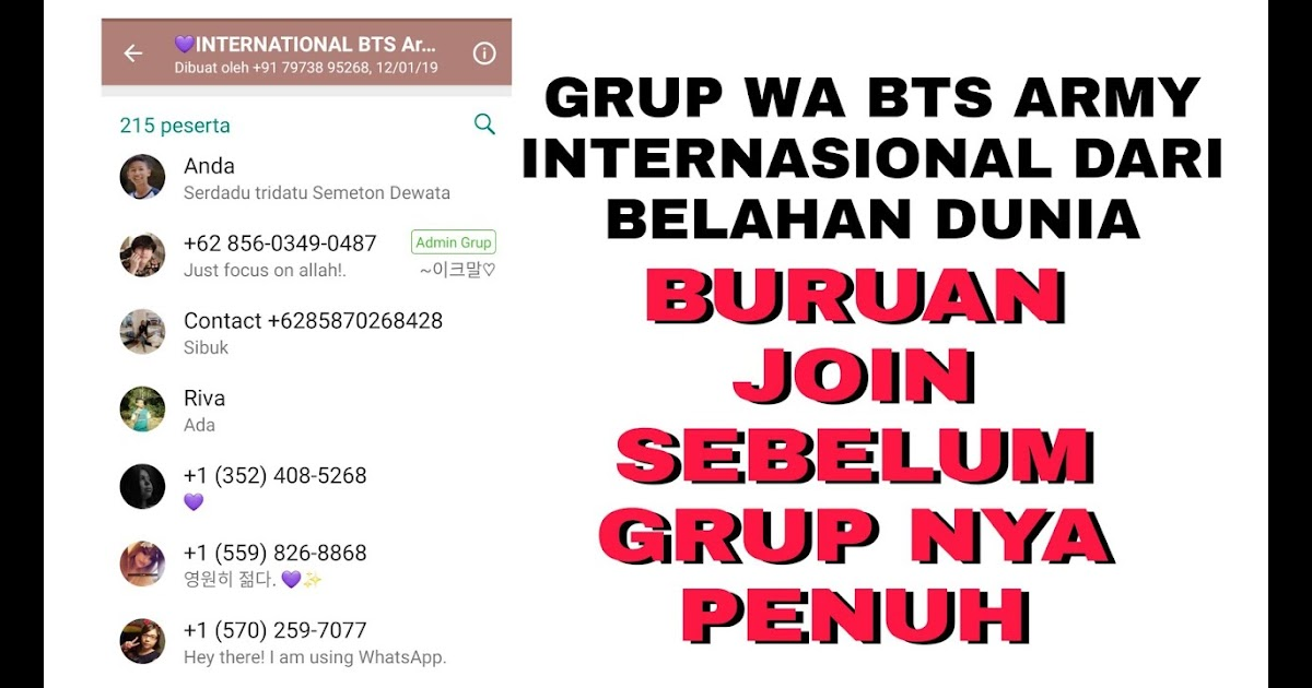 Korean Bts Link Grup Whatsapp Bts Army Indonesia 2020