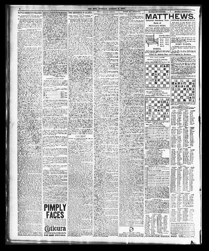NY Sun 1897 Newspaper page