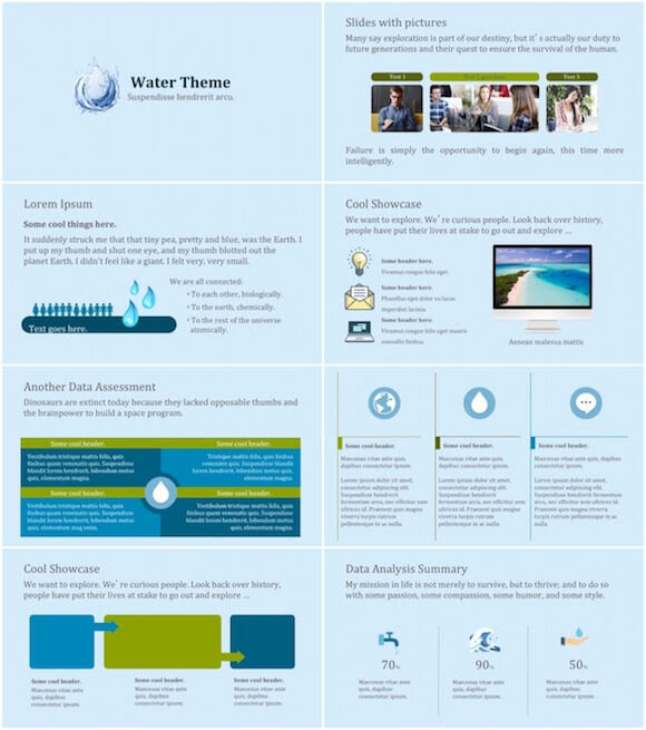 Water Powerpoint Template Free
