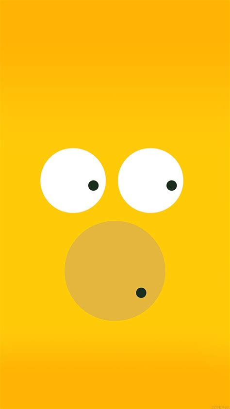 aa  circles homer simpson illust minimal art papersco