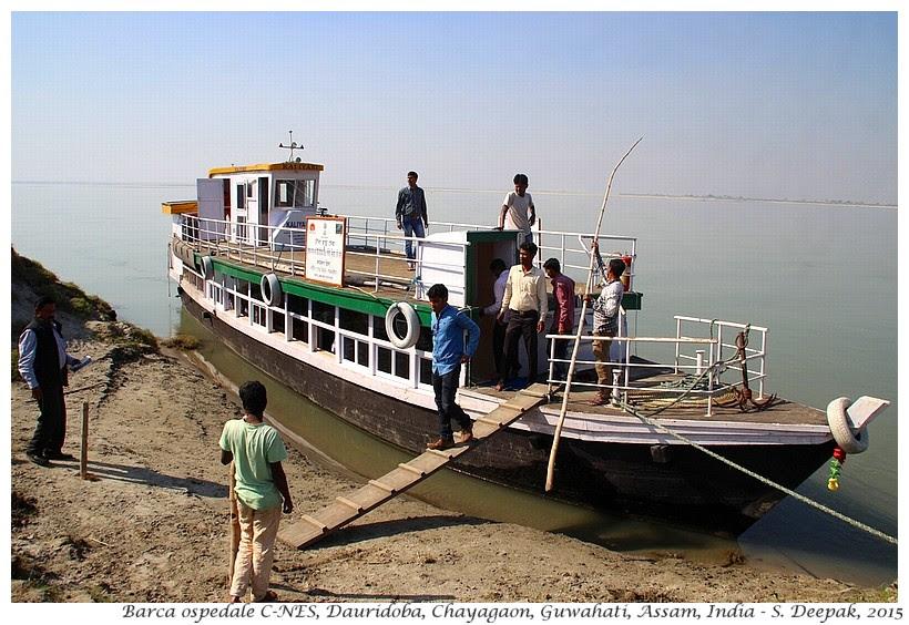 Barca ospedale di C-NES, Assam India - Images by Sunil Deepak