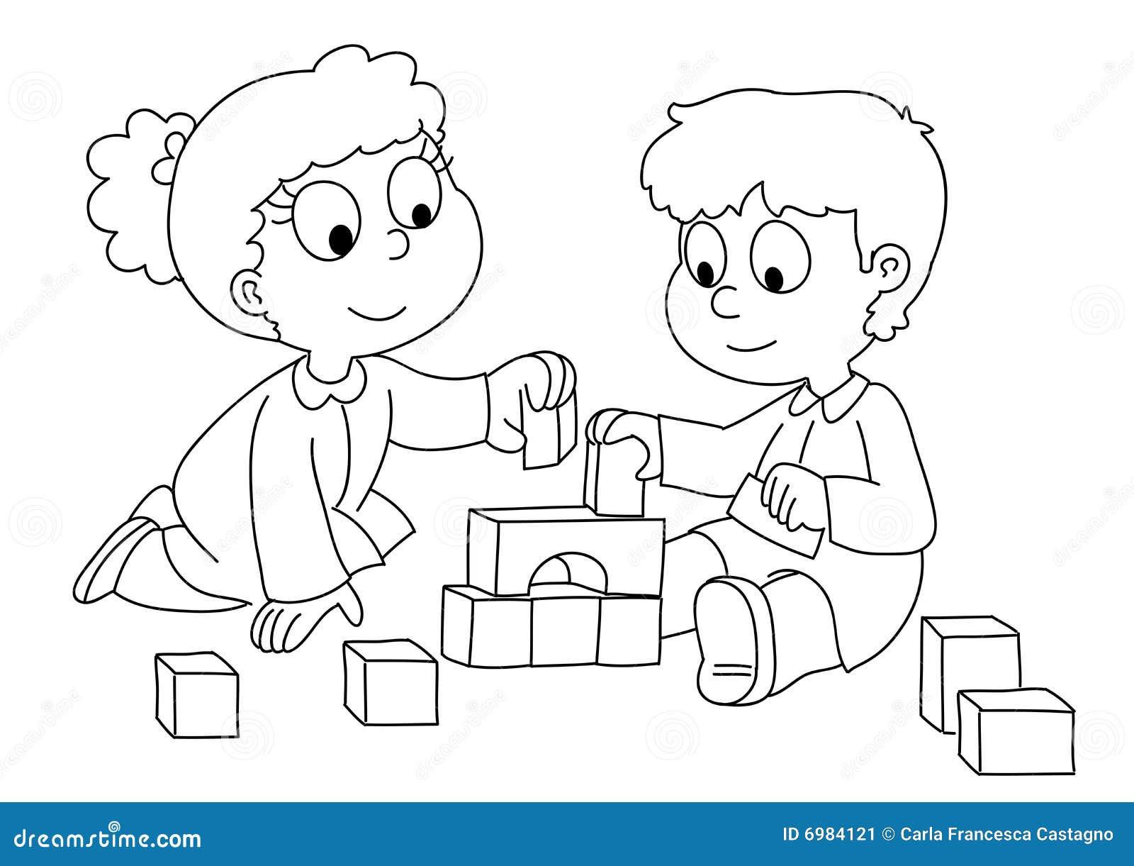 Disegno Da Colorare Bambini Che Giocano.Disegno Di Carletto Il Bambino Che Gioca Da Colorare