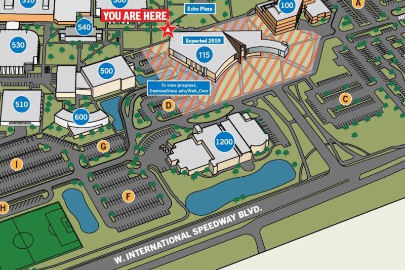 daytona state campus map Daytona State College Campus Map Maping Resources daytona state campus map