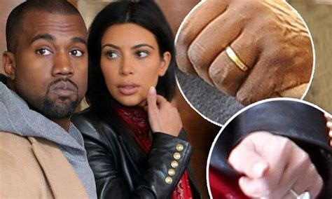 Kanye West shows first glimpse of his wedding ring but Kim