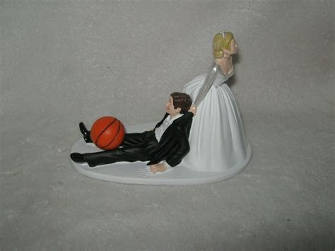 Wedding Party ~Basketball~ Cake Topper Sports Bride
