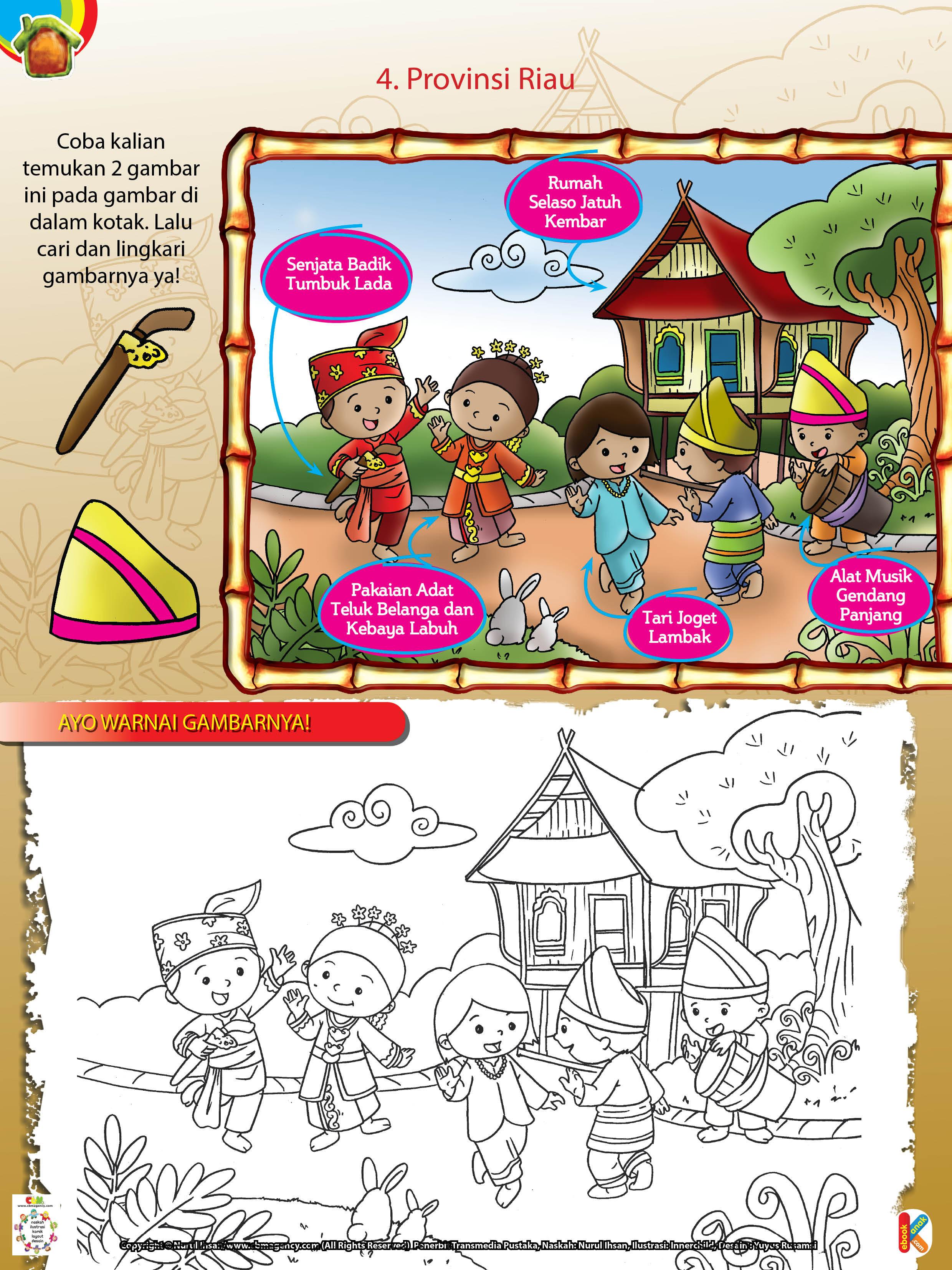 Rumah Adat Jawa Kartun Gambar Rumah Adat Jawa Hitam Putih Rumah