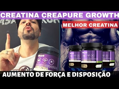 CREATINA CREAPURE GROWTH A MELHOR CREATINA DO BRASIL COM A MELHOR CREATINA IMPORTADA BOM E BATATO