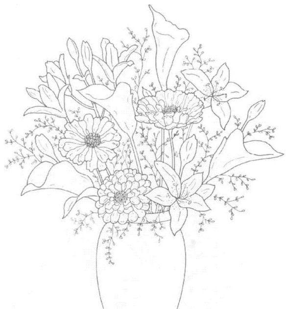 bouquet kleurplaat