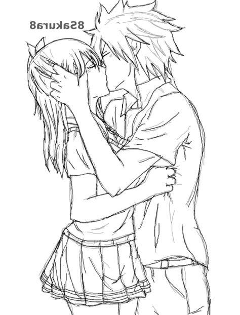 kissing anime drawing  getdrawingscom