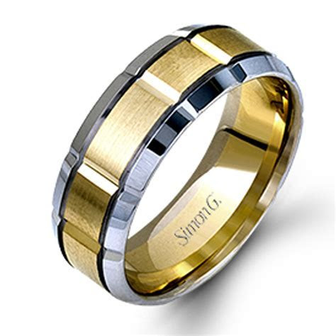 Simon G Engagement Rings Two Tone 8mm Men's Band Two Tone