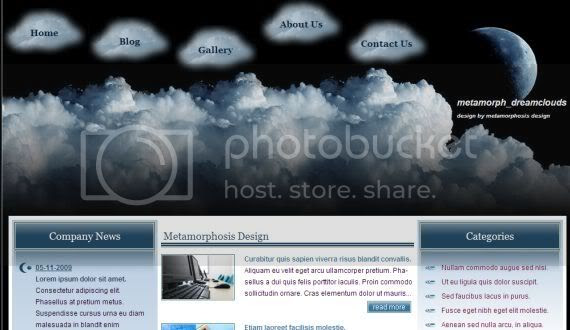 Clouds Dream Vector CSS Website Template